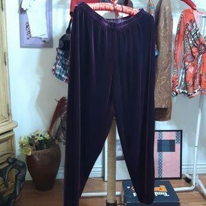 Fall Lounge Pants sz 16W Petite Purple Plum
